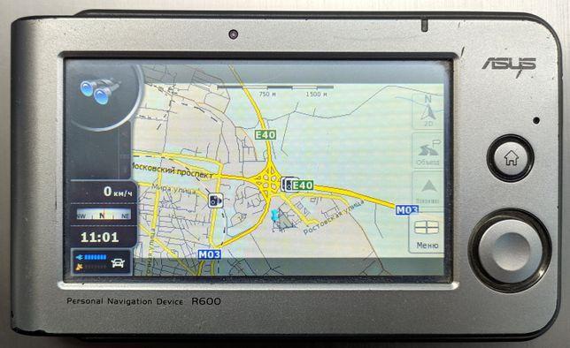 Автомобильный GPS Навигатор Asus R600