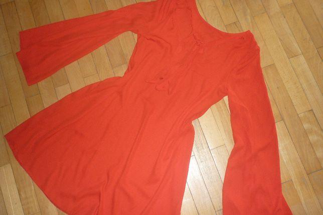 Czerwona sukienka wiązana pod szyją rozm. 38 - 40