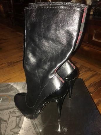 Ботильоны сапожки черные DuMonde Celine, Fendi, Dior, YSL, Pollini)