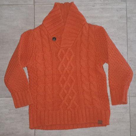 Sweter sweterek pomarańczowy 110
