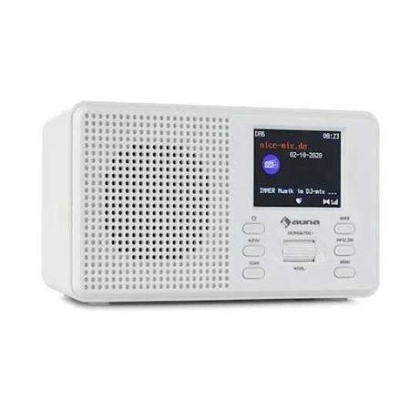 Цифровое радио FM Белый  DAB / DAB + FM  Bluetooth цифрове радіо