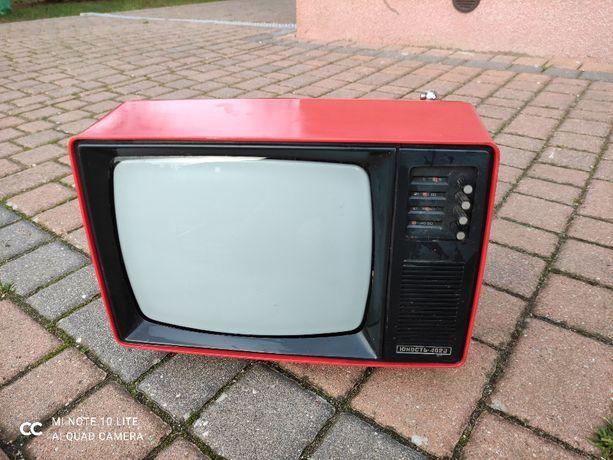 Czerwony Radziecki telewizor 14 cali