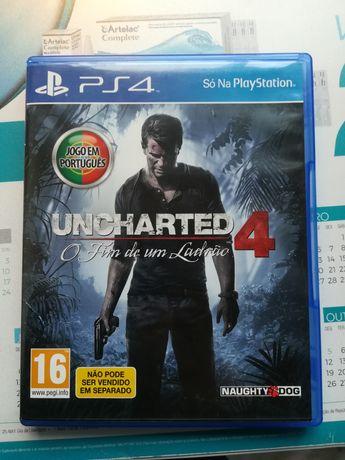 Jogo de PS4 Uncharted 4 O fim de um ladrão