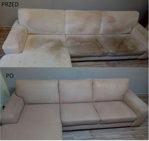PRANIE czyszczenie tapicerki narożników dywanów ozonowanie DOJAZD GRAT