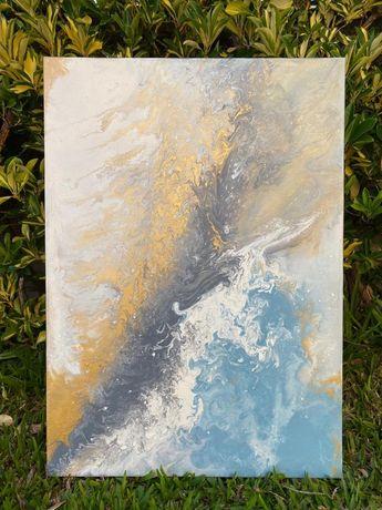 "Quadro pintura abstrato ""Sunset"" - 50x70 cm"