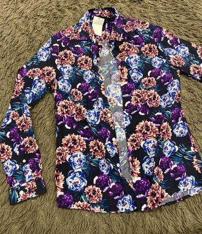 Рубашка Asos новая,H&M,guess,levis узор цветок