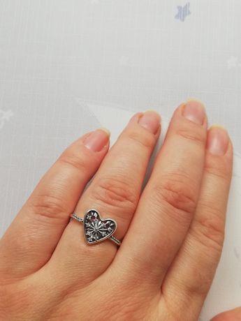 Pierścionek lodowe serce 56 nowy Pandora