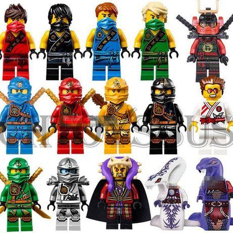 Lego ninjago zestaw 15 figurek klocki kompatybilne