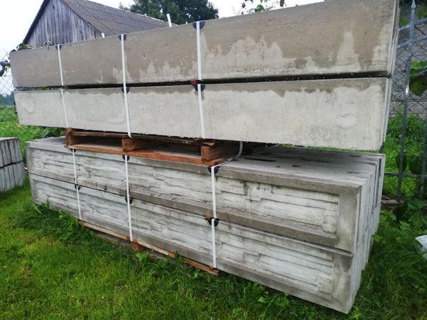 Płyta ogrodzeniowa betonowa podmurowkowa