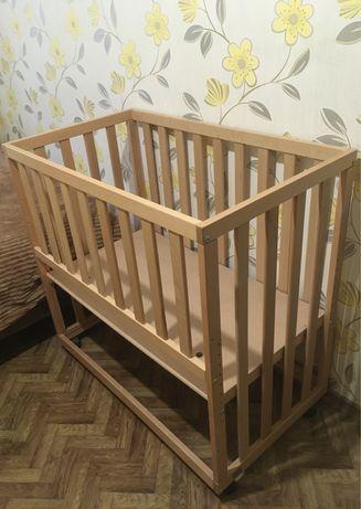Приставная кроватка, приставной манеж child wood