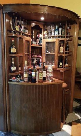 Móvel Bar sem recheio c/ 2 bancos de pe alto