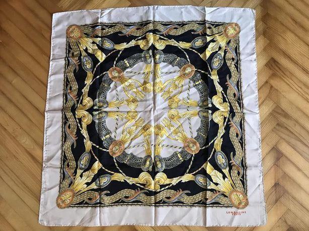 Lombagine paris-роскошный шёлковый платок в стиле Hermes!