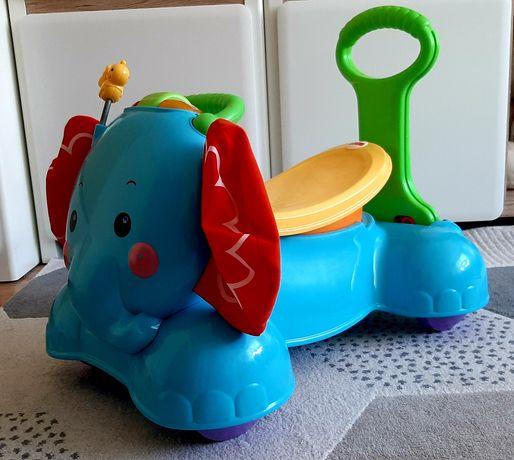 Słonik pchaczek-jeździk,Fisher Price, stan bardzo dobry