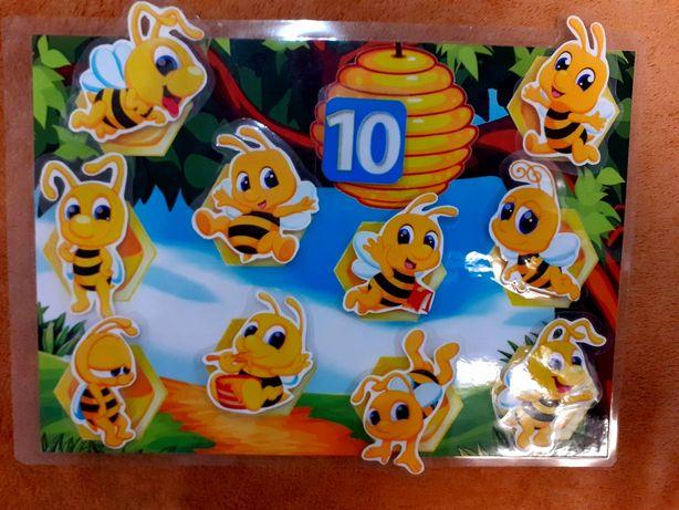 Развивающая игра на липучках Весёлые пчелки. Счёт до 10