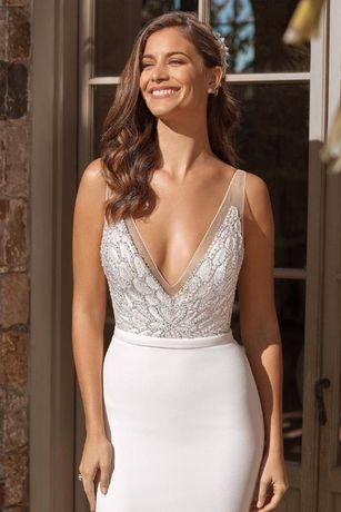 Suknia ślubna Justin Alexander model 88074 + bolerko + buty + welon