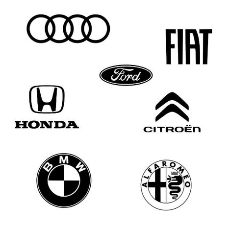 Autocolantes Alfa Romeo - Audi - BMW - Citroen - Fiat - Ford - Honda