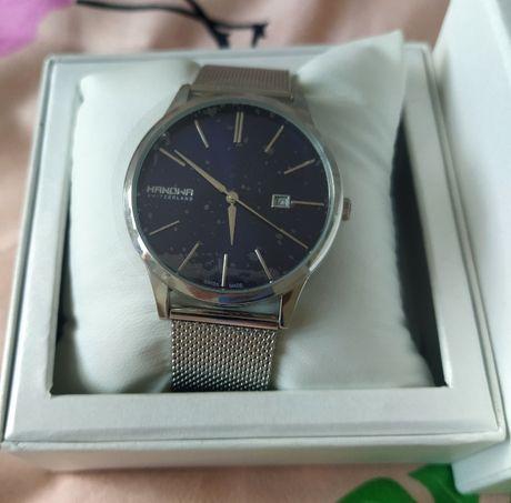 Zegarek Szwajcarski Hanova, nie używany, gwarancja, folia na zegarku