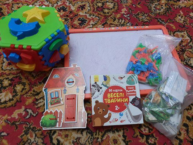 Настольные развивающие игры для детей от 2х лет.Сортер,пазлы,шнуровка