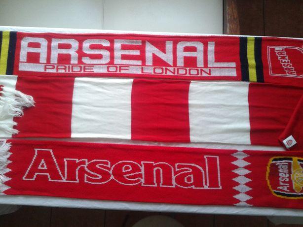 Sprzedam 14 nowych org szalików piłkarskich meczowych Arsenalu Londyn.
