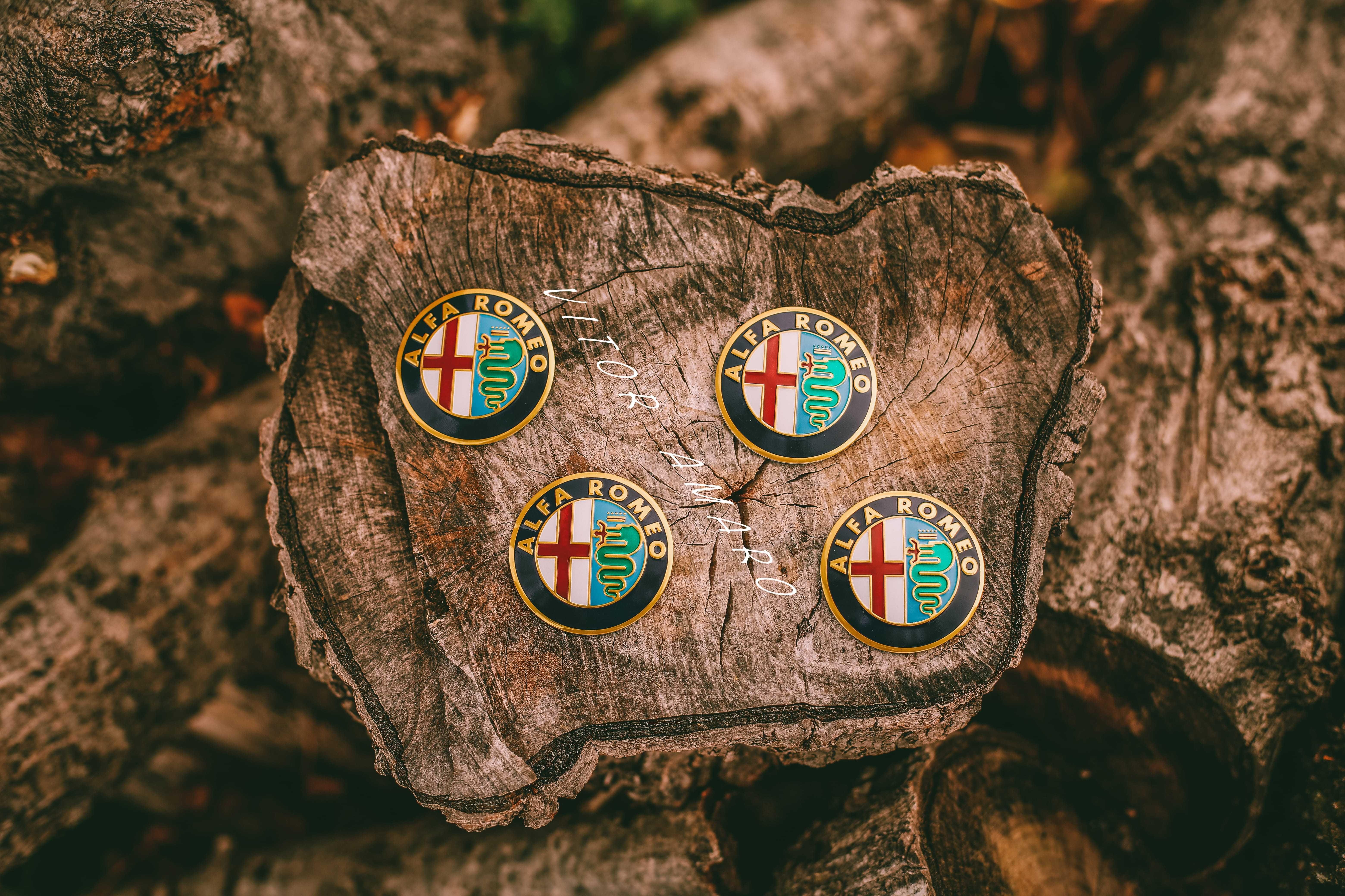4 Simbolos/Logos para Jantes em Alumínio Alfa Romeo Nº5|NOVOS