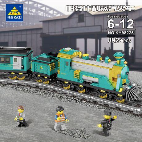 Pociąg Kazi 98225 klocki 892 klocków Nowe Train