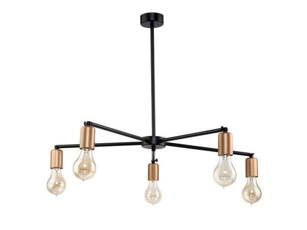 Nowodvorski Sticks V 9735 Lampa oprawa sufitowa plafon 5x60W czarny/