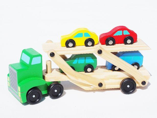 drewniane samochody LAWETA 4 AUTA