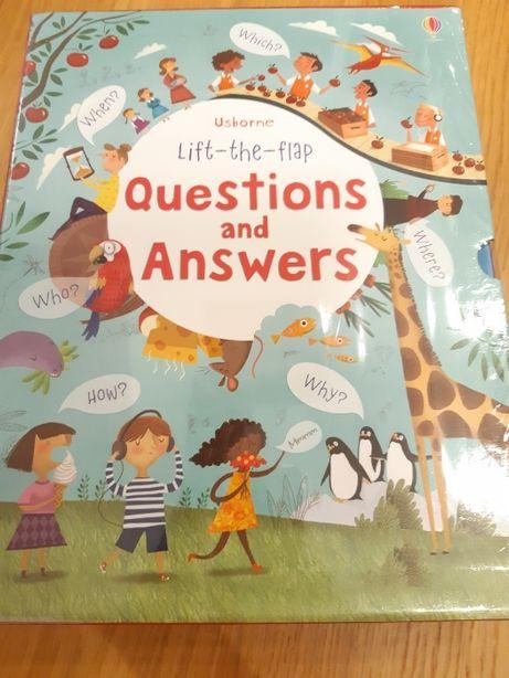 Zestaw 5 książek z okienkami Usborne Lift The Flap Question & Answers