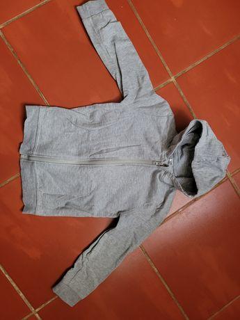Bluza chłopięca rozpinana z kapturem rozmiar 122