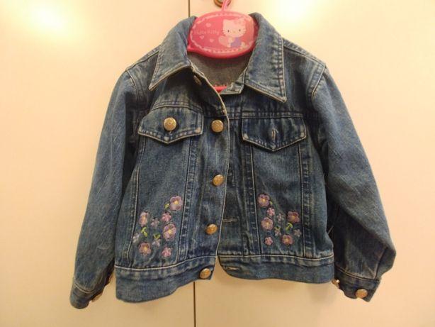 Kurtka jeansowa katana z haftem r.92-98