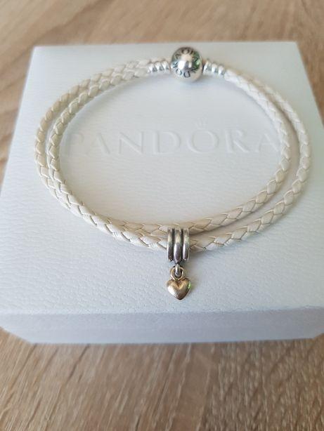 Serce złote Pandora charms oryginalny