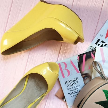 Лаковые желтые туфли sexy fairy