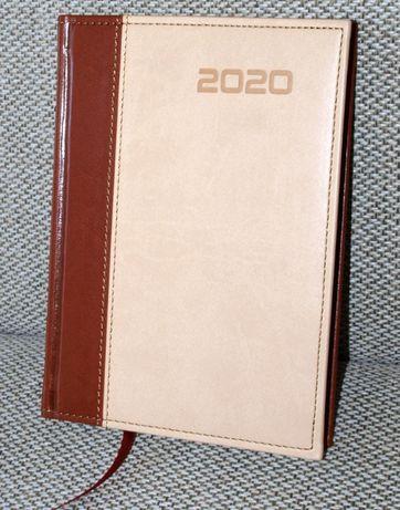 Kalendarz 2020 jako notatnik, A5, brązowo-piaskowy - ostatni
