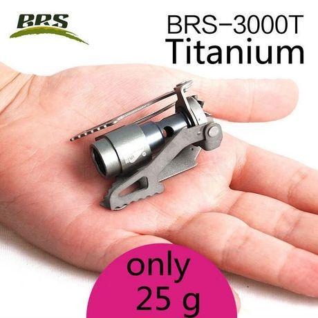 Легкоходная титановая газовая горелка BRS-3000T вес 25 грамм (БРС)
