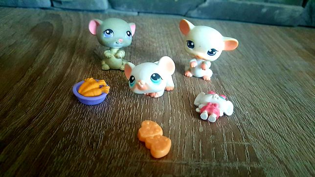 Littlest Pet Shop LPS figurki myszek myszka gryzonie + akcesoria