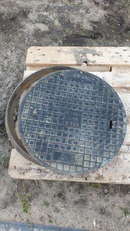 Dekiel żeliwny, pokrywa z obręczą