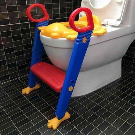 Детское сиденье на унитаз со ступенькой и ручками Childr Toilet Traine