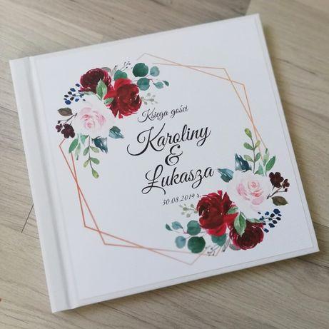 Księga gości na wesele w róże