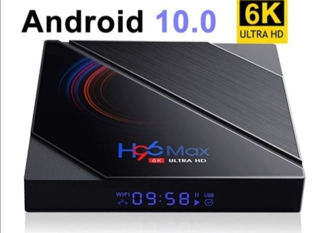 Box H96 MAX Ultra HD 6K Smart TV Android 10.0 4G 32G 6K Wi-Fi Bluetoot