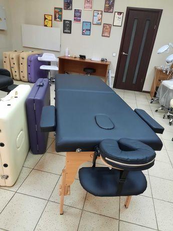 Стіл масажний 185*70 чорний, фіолетовий, крем, БЕЗКОШТОВНА ДОСТАВКА НП