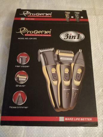 Машинка для стрижки волос ProGemei GM-595 на аккумуляторах 3 в 1 .