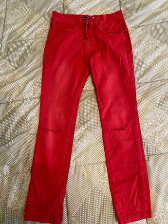 Джинси червоні для дівчинки