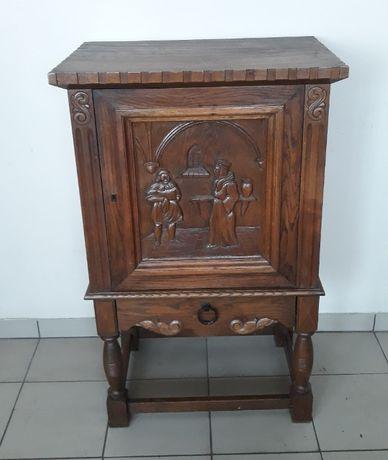 Mały barek holenderski szafka rzeźbione zdobienia