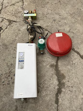 Электрический котел 3х фазный 15 кВт, насос Wilo, бак