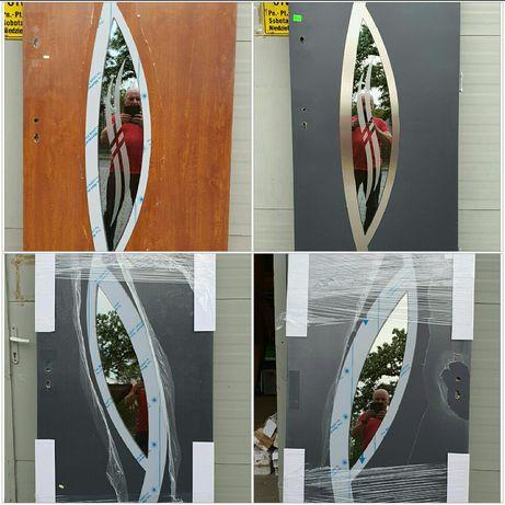 Nowe drzwi zewnętrzne metalowe prawe lewe