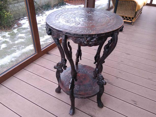 Stolik kawowy Rzeźbiony Antyk