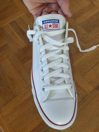Converse Chuck Taylor All Star skóra low męskie sneakersy białe skórza