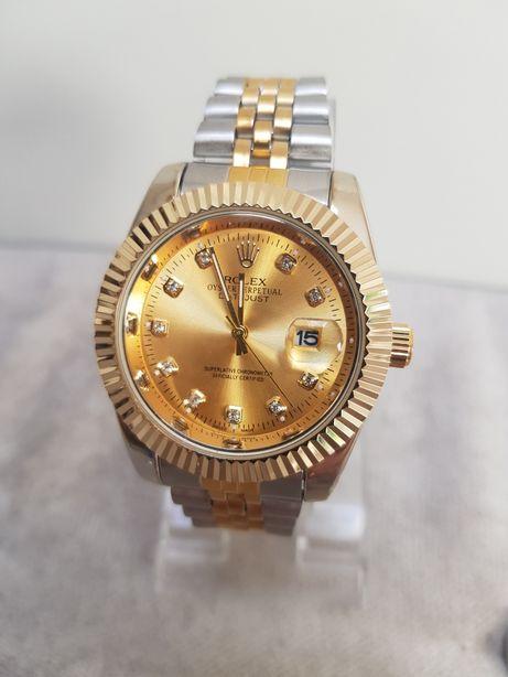 Zegarek męski Rolex Datejust srebrno złoty 41mm nowy Super