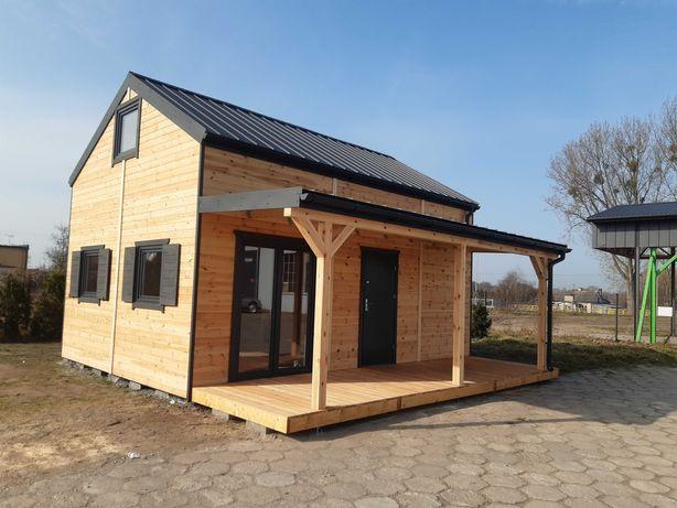 Domek drewniany, rekreacyjny, letniskowy 35m2