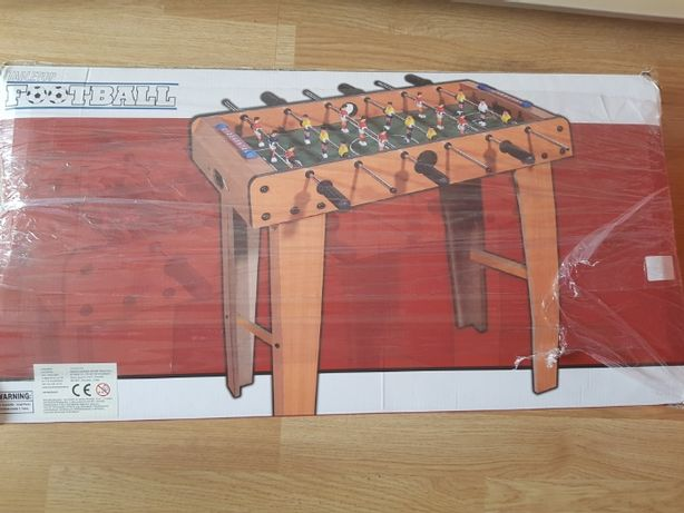 Stół piłkarzyki z nogami, 6 rzędów prętów, solidna konstrukcja :)